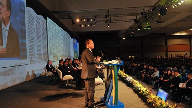 Presidente do Senado, Renan Calheiros, durante encontro com prefeitos | Foto: Senado Federal