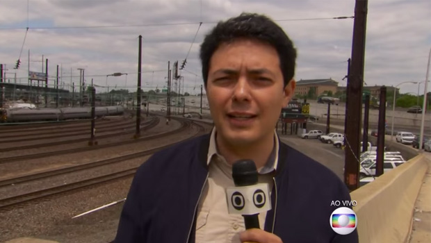 Ao vivo, polícia americana expulsa equipe de reportagem da TV Globo