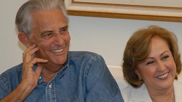 Joaquim Roriz e a esposa, Dona Weslian   Foto: Facebook / Liliane Roriz