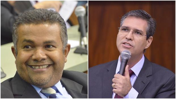 Ex-vereadores Santana Gomes (PSL) e Francisco Jr. (PSD): visitas frequentes à Câmara | Fotos: Marcos Kennedy / Alego