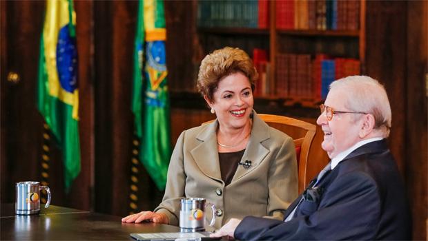 No Programa do Jô, Dilma diz que dificuldade econômica é passageira