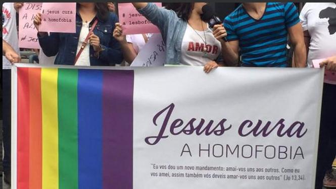 Evangélicos marcham contra homofobia na Parada Gay