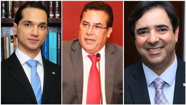 Os presidenciáveis Pedro Paulo de Medeiros, Enil Henrique e Flávio Buonaduce | Fotos: Facebook e Fernando Leite / Jornal Opção