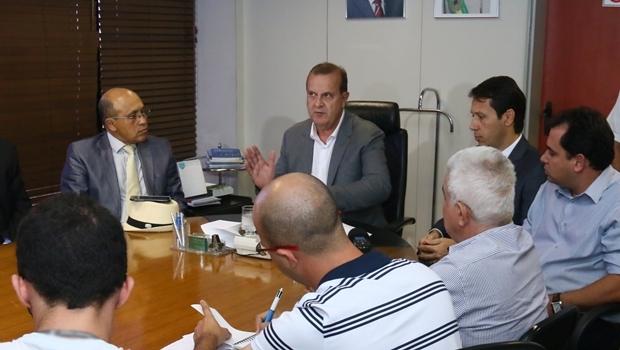 Prefeito Paulo Garcia, durante anúncio do novo secretariado   Foto: Fernando Leite / Jornal Opção