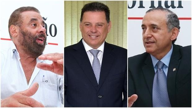Vereador Paulo Magalhães (SD) e presidente da Câmara, Anselmo Pereira (PSDB): possível encontro com o governador Marconi Perillo (PSDB) | Fotos: Fernando Leite / Governo de Goiás