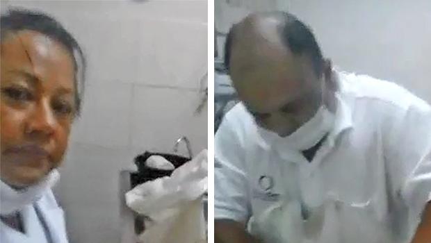 Vídeo mostra funcionários preparando corpo do cantor | Foto: Reprodução/Vídeo