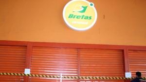 Fachada do Bretas do Araguaia Shopping, em Goiânia | Foto: Decon