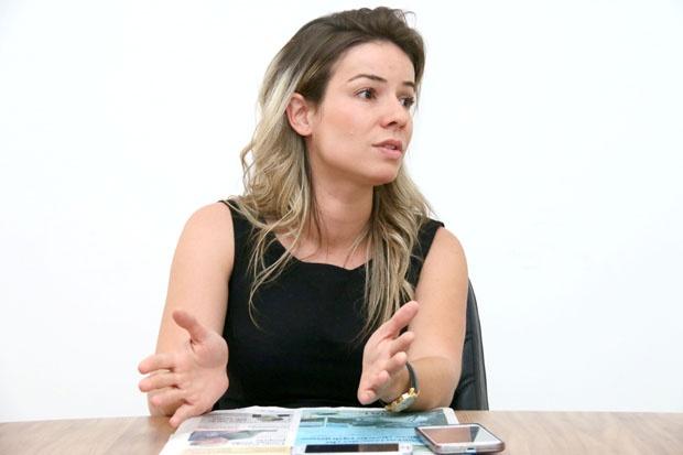 Nome novo na política, Nayara Barcelos (PSB), ex-mulher do deputado federal Heuler Cruvinel, pretende concorrer à Prefeitura de Rio Verde  Foto: Fernando Leite