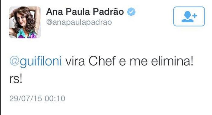 Ana Paula Padrão responde comentários maldosos de internautas sobre MasterChef