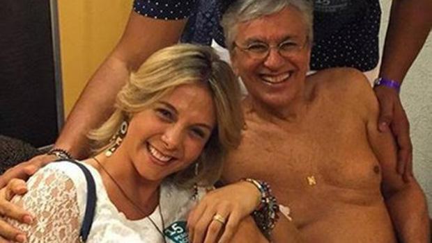 Caetano aparece de cueca em foto com Xanddy e Carla Perez e causa alvoroço na Internet