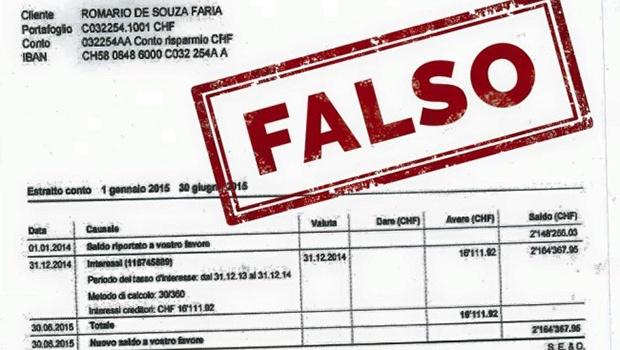 Imagem com documento falso que teria sido usado pela revista foi publicado no Facebook do senador