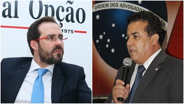 Lúcio Flávio e Enil Henrique devem polarizar eleição da OAB-GO | Foto: Fernando Leite / Jornal Opção / reprodução / Facebook