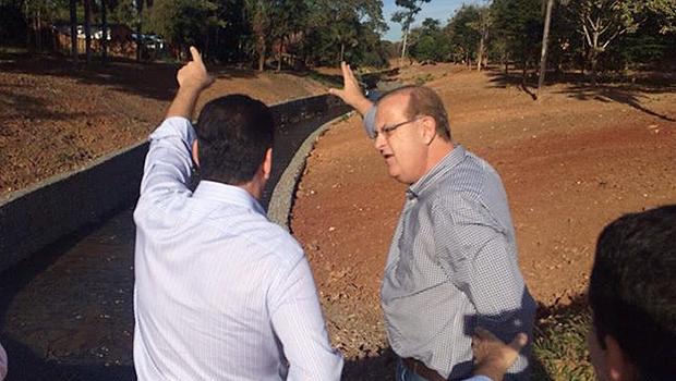 Prefeito explicou detalhes das obras ao governador | Foto: Reprodução/Prefeitura de Goiânia