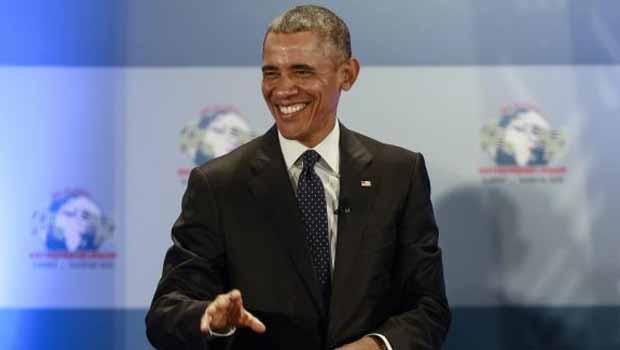 O presidente dos Estados Unidos, Barack Obama, na abertura da 6ª Cúpula Global de Empreendedorismo, na sede do Programa das Nações Unidas para o Meio Ambiente em Nairobi, QuéniaDaniel Irungu/EPA/Agência Lusa - Todos direitos reservados