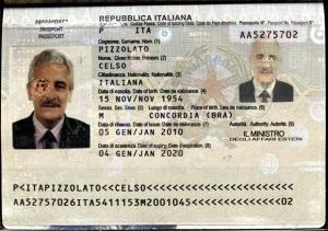 Henrique Pizzolato entrou na Itália com o passaporte do irmão falecido, Celso Pizzolato | Foto: Divulgação/Interpol