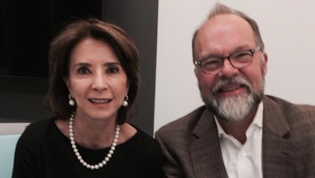 Raquel Teixeira e David Plank, durante a visita da secretária aos EUA no começo do ano | Foto: arquivo pessoal