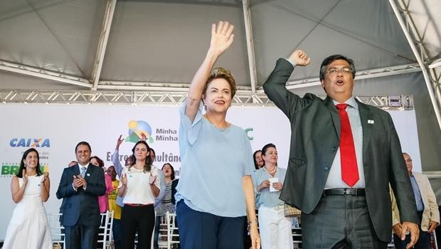 Presidente Dilma Rousseff e governador Flávio Dino: não vai ter golpe | Foto: Roberto Stuckert Filho/PR