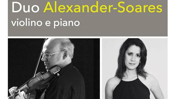 O violino e piano do Duo Alexander-Soares no Centro Cultural UFG