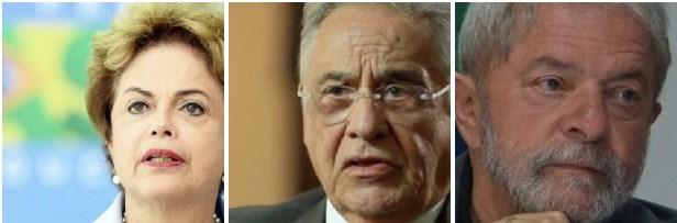 Fernando Henrique Cardoso, Lula da Silva e Dilma Rousseff: o partido dos dois últimos, o PT, trabalhou, de maneira orgânica, para destruir a imagem do primeiro. Agora, querem destruir Lula? Vale a pena?