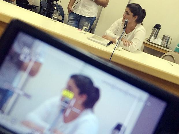 Ana Maria Dantas presa depoimento na CEI | Foto: Marcello Dantas