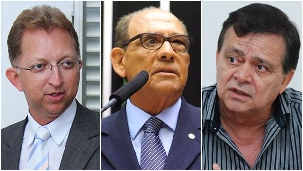 Os três deputados que mais gastaram com viagens aéreas: João Campos, Roberto Balestra e Jovair Arantes | Foto: Montagem-Reprodução/Facebook e Fernando Leite/Jornal Opção