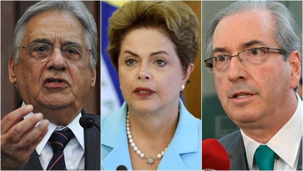 Dilma Rousseff: a presidente não faz um governo de qualidade, mas está tentando ajustá-lo. Fernando Henrique Cardoso: o ex-presidente defende a renúncia da petista. Eduardo Cunha: acusado de corrupção, vai gerir a Câmara dos Deputados sob permanente suspeição