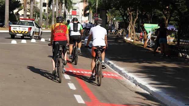 Nova sinalização dede ciclorota será inaugurado no domingo | Foto: Divulgação/Prefeitura de Goiânia