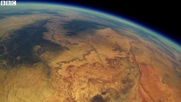 Imagem da Terra feita pelo equipamento da equipe de Stanford | Reprodução BBC