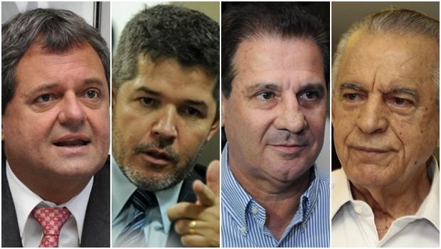 Jayme Rincón, Delegado Waldir, Vanderlan Cardoso e Iris Rezende: players de Goiânia | Fotos: Jornal Opção