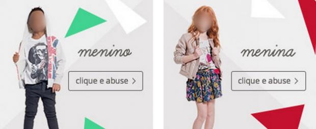 """""""Clique e abuse"""": C&A causa revolta nas redes sociais com imagens de crianças"""