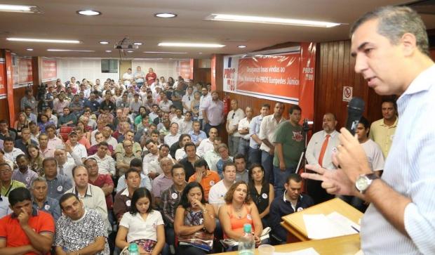 José Eliton em evento do Pros, no sábado   Foto: Reprodução/Twitter