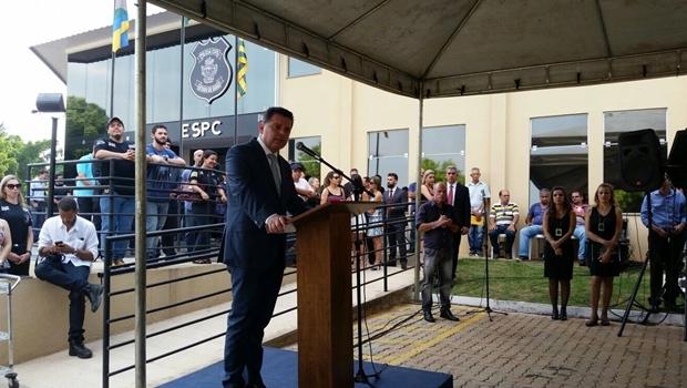 Governador Marconi Perillo faz anúncio durante inauguração da PC