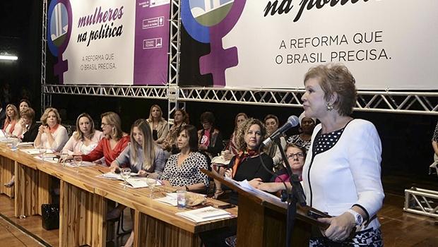 Senadora Marta Suplicy em discurso | Foto: Rodrigo Cabral