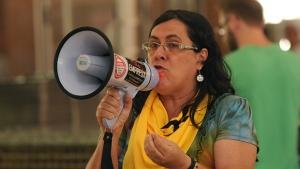 Professora Miriam Bianca, do Comando Local de Greve: críticas à forma de condução adotada pela Adufg | Renan Accioly/jornal Opção
