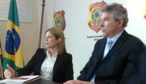 Presidente do inquérito, Marcela de Siqueira, e o procurador da República em Goiás, Hélio Telho (centro) | Foto: Reprodução/Vídeo/Youtube