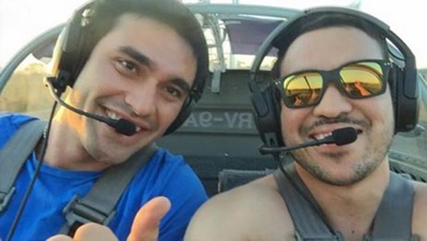 Guilherme e Erik perderam a vida em acidente aéreo em Pirenópolis | Foto: Reprodução/Facebook