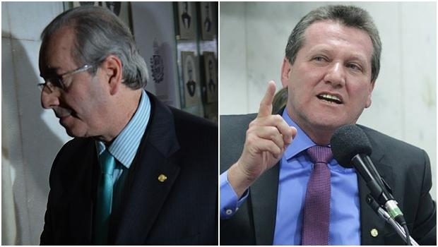 Eduardo Cunha (PMDB-RJ) vai sair, aposta Giuseppe Vecci (PSDB-GO) | Fotos: Fábio Pozzebom / ABr / reprodução / Faceebok