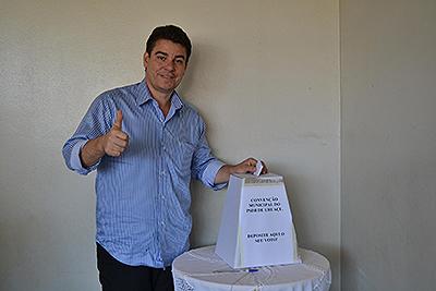 Afrêni Gonçalves diz que, candidato do governador Marconi Perillo, Valmir Pedro vai ser eleito em Uruaçu