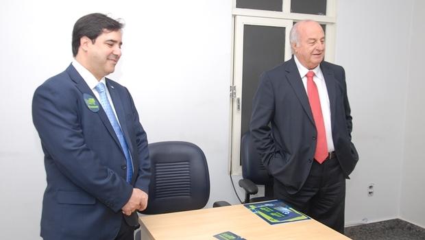 Buonaduce e o presidente da AGR, Chiaroleto