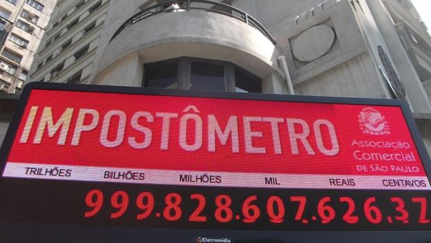 Impostômetro: a carga tributária brasileira é uma das mais brutais do planeta, mas o governo quer mais e mais | Divulgação