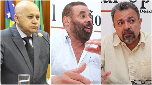 Vereadores Djalma Araújo, Paulo Magalhães e Elias Vaz | Foto: Câmara Municipal de Goiânia/ Fernando Leite Jornal 0pção