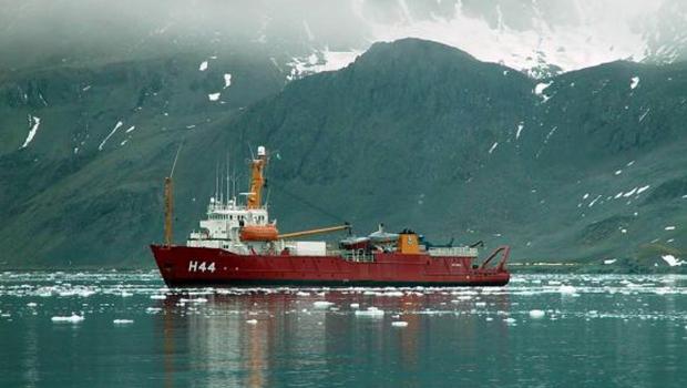 Navio Ary Rongel na Antártica | Divulgação/Marinha do Brasil