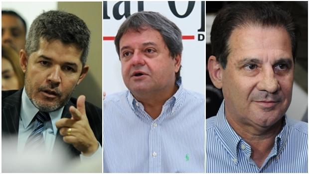 Delegado Waldir, Jayme Rincón e Vanderlan: apostas da base   Foto: Jornal Opção