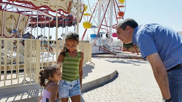 Vice-governador José Eliton em vistoria ao parque em 29 de agosto | Divulgação