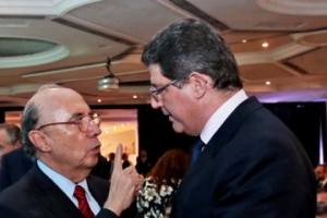 Henrique Meirelles com Joaquim Levy