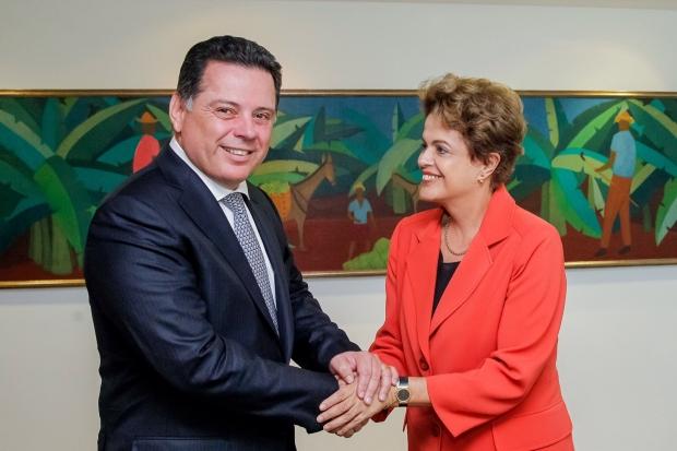 Governador Marconi Perillo (PSDB) veio para Goiânia com a novidade após reunião com a presidente Dilma Rousseff (PT) | Foto: assessoria