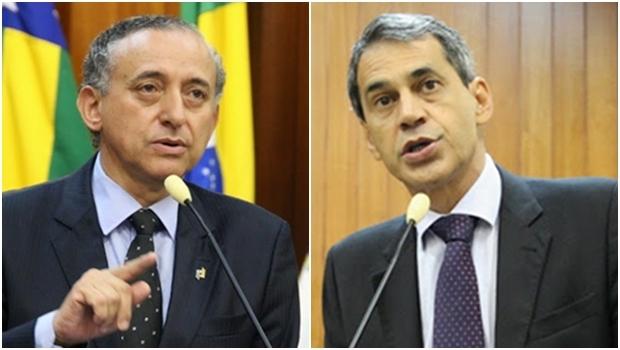 Presidente da Câmara, Anselmo Pereira, e o líder do prefeito, Carlos Soares   Fotos: Câmara Municipal