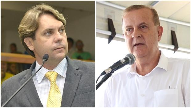 Presidente do PMDB Metropolitano, Bruno Peixoto, e prefeito Paulo Garcia: aparar arestas é a missão | Fotos: Y. Maeda e Fraçois Callil