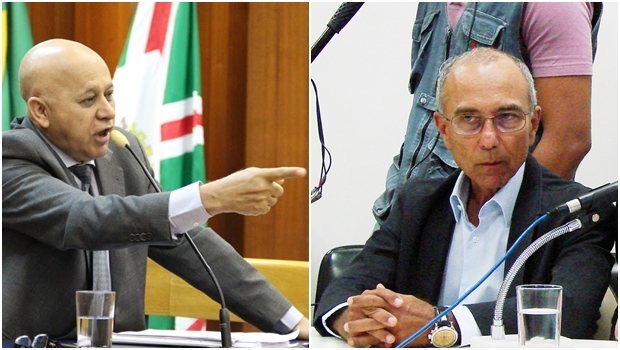 Vereador Djalma Araújo (Rede) e o empresário Ilézio Inácio | Fotos: Alberto Maia / Marcello Dantas