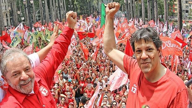 Lula e Haddad durante ato em São Paulo | Foto: Ricardo Stuckert / Instituto Lula